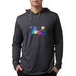 Rainbow Horse Mens Hooded Shirt