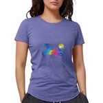 Rainbow Horse Womens Tri-blend T-Shirt