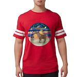 R-XmasStar-ShetlandPony Mens Football Shirt