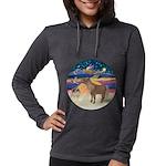 R-XmasStar-ShetlandPony Womens Hooded Shirt
