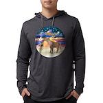 R-XmasStar-ShetlandPony Mens Hooded Shirt