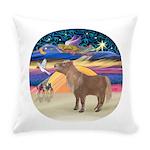 R-XmasStar-ShetlandPony Everyday Pillow