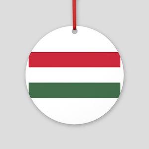 Hungary Flag Round Ornament