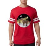 R-XmasDove-ShetlandPony Mens Football Shirt