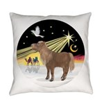 R-XmasDove-ShetlandPony Everyday Pillow