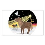 R-XmasDove-ShetlandPony Sticker (Rectangle 50
