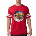 R-XmasMusic2-ShetlandPony Mens Football Shirt