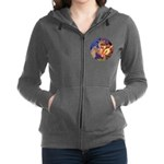 R-Angel3-ShetlandPony Women's Zip Hoodie