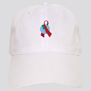 World AIDS Ribbon Baseball Cap