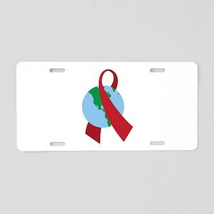World AIDS Ribbon Aluminum License Plate