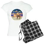 R-XmasStar-ShetlandPony Women's Light Pajamas