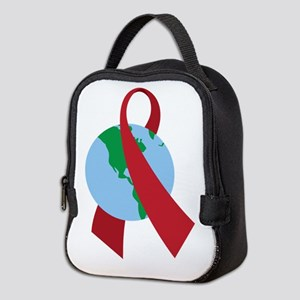 World AIDS Ribbon Neoprene Lunch Bag