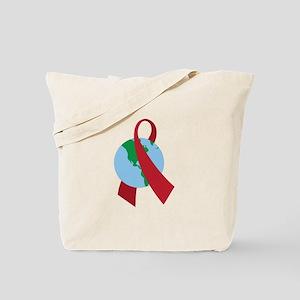 World AIDS Ribbon Tote Bag