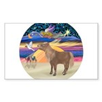 R-XmasStar-ShetlandPony Sticker (Rectangle 50
