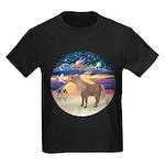 R-XmasStar-ShetlandPony Kids Dark T-Shirt