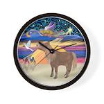 R-XmasStar-ShetlandPony Wall Clock
