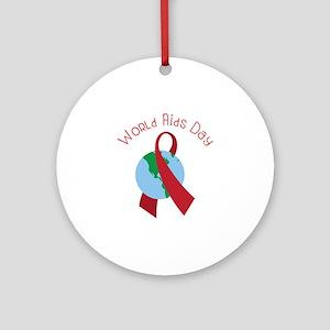 World AIDS Day Round Ornament