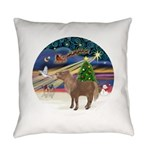 R-XmasMagc-ShetlandPONY Everyday Pillow