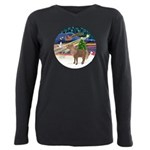 R-XmasMagc-ShetlandPONY Plus Size Long Sleeve