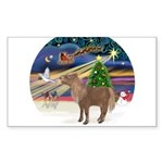 R-XmasMagc-ShetlandPONY Sticker (Rectangle 50