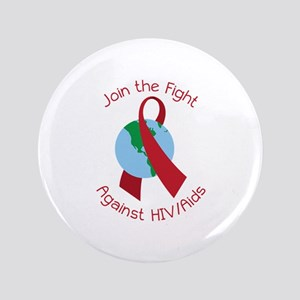Fight Against HIV/AIDs Button