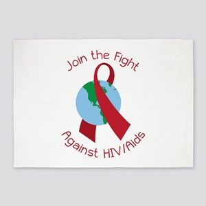 Fight Against HIV/AIDs 5'x7'Area Rug