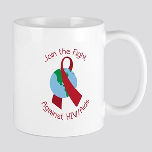 Fight Against HIV/AIDs Mugs