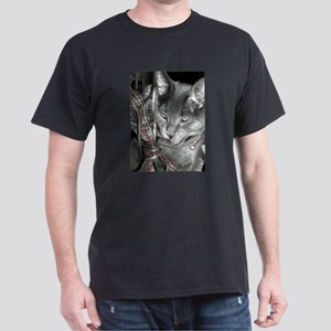 Smoky Christmas in black and white. T-Shirt