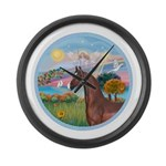 ORN-AngelStar-ArabianHorse Large Wall Clock