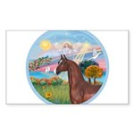 ORN-AngelStar-ArabianHorse Sticker (Rectangle