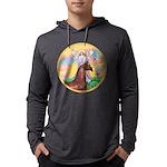 Blessings - Horse (Ar-brown) Mens Hooded Shirt