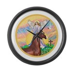 Blessings - Horse (Ar-brown) Large Wall Clock