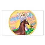 Blessings - Horse (Ar-brown) Sticker (Rectangl