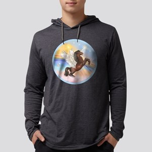 ORN-Clouds-HORSE-brownRear Mens Hooded Shirt