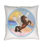 ORN-Clouds-HORSE-brownRear Everyday Pillow