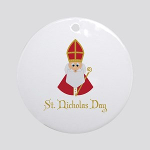 St Nicholas Day Round Ornament
