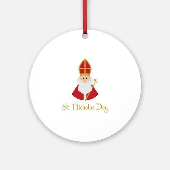 St Nicholas Day Round Ornament