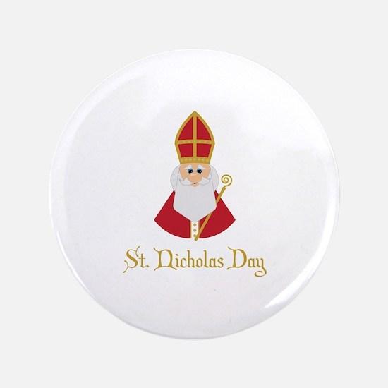 St Nicholas Day Button