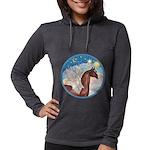 Clouds 3 - Horse Angel (Ar-brown) Womens Hoode