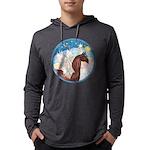 Clouds 3 - Horse Angel (Ar-brown) Mens Hooded