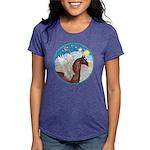 Clouds 3 - Horse Angel (Ar-brown) Womens Tri-b
