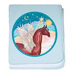 Clouds 3 - Horse Angel (Ar-brown) baby blanket
