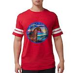 Rocks-Sea-Horse (Ar-brown) Mens Football Shirt