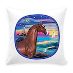 Rocks-Sea-Horse (Ar-brown) Everyday Pillow