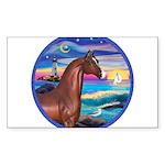 Rocks-Sea-Horse (Ar-brown) Sticker (Rectangle