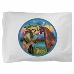 ORN-StFrancis-HORS-Arabian-brown Pillow Sham