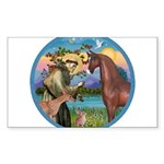 ORN-StFrancis-HORS-Arabian-brown Sticker (Rect