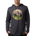 ORN-MtCountry-Horse-TAN-rear Mens Hooded Shirt