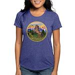 ORN-MtCountry-Horse-TAN-rear Womens Tri-blend