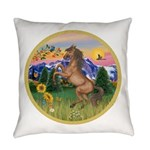 ORN-MtCountry-Horse-TAN-rear Everyday Pillow